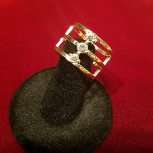 Jewelry - 4 for $20-Goldtone and cz ring